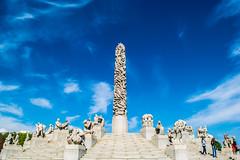 The Vigeland Sculpture Park (wpc302) Tags: blue sky sculpture oslo norway vigeland