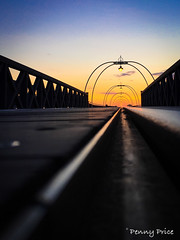 To the end of the pier. (pennyaprice) Tags: sunset pier outdoor dusk southport