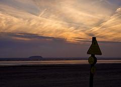 Steep Holm Sunset (ORIONSM) Tags: sunset beach clouds island olympus silhoutte englishchannel brean steepholm infinitexposure omdm10
