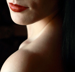 """Then I will purify the lips of the peoples"" (coollessons2004) Tags: portrait woman beauty lips elegant shoulder eoshe krystalsmith"