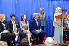 A Local Girl Scout Addresses the Audience at an Interfaith Iftar Reception to Mark World Refugee Day (U.S. Department of State) Tags: angelinajolie johnkerry unhcr iftar worldrefugeeday refugeeswelcome annerichard shaarikzafar