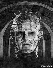 Hellraiser - Pinhead (2002) (Studies In Comfort - Ian Levack) Tags: pencil drawing movies pinhead thebox hellraiser cenobite