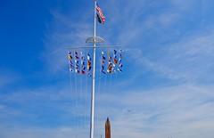 Happy Memorial Day! (ineedathis, Keep on Ticking!) Tags: sky usa newyork tower clouds flying flags longisland airshow helicopter jonesbeach nikond750 2016memorialday
