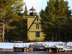 Bete Gris - Mendota Lighthouse - Keweenaw Peninsula - Michigan (Mikel Classen) Tags: lighthouse michigan mendota upperpeninsula coppercountry keweenawpeninsula betegris