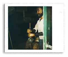 My silent partner (ktmqi) Tags: polaroid folkart sculpture wood man americanart friend guard company humor mannequin armor weathervane alarm police newyork kennedygallery