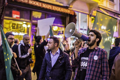Stirring Up The Crowd (hehheh78) Tags: russia circassian genocide protest politicalrally politics turkey istanbul