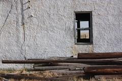 Abandoned Schoolhouse - Arlington, Colorado (Brynn Thorssen) Tags: school windows white abandoned broken arlington rural wooden colorado country adobe co weathered schoolhouse desolate stucco brokendown disrepair twostorey twostoreyed