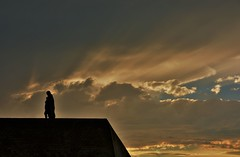 Michiel de Ruyter met ondergaande zon (Omroep Zeeland) Tags: boulevard zeeland lucht zon michiel vlissingen stad walcheren ruyter ondergaande
