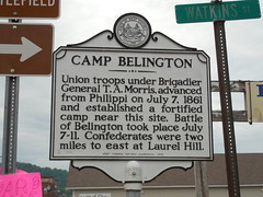 Camp Belington Historic Marker (jimmywayne) Tags: historic civilwar westvirginia marker barbourcounty belington campbelington