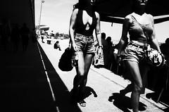 Untitled (nzkphotography) Tags: barcelona street travel girls summer people blackandwhite beach monochrome spain noiretblanc 28mm streetphotography highcontrast espana catalunya ricohgr provoke 2016 seriouscompacts