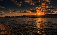 Inbound Palma habour (Stefan Sellmer) Tags: sunset water spain sailing outdoor es mallorca palma spanien balearicislands illesbalears
