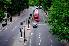 Two London icons (Shane_Henderson) Tags: street summer england people bus london westminster unitedkingdom routemaster embankment doubledeckerbus blackcab xseries embankmenttubestation cityofwestminster fujifilmxe2 fujinonlensxf27mmf28 embankmenttrainstation