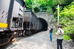 Ilchester (6-11-16)-009 (nickatkins) Tags: longexposure railroad bridge sky water graffiti bridges rail tunnel bluesky ironbridge rails railroads