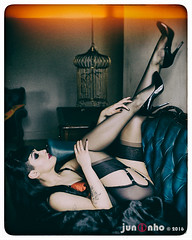 Kira Krueger, Manchester, 2014... (SnapperJuninho) Tags: stockings beauty highheels retro heels pinup attraction fully nylons allure fashioned limgerie bulletbra