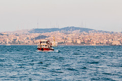 Boat on the Bosphorus III (danielfoster437) Tags: turkey istanbul boating fishingboat fishboat commercialfishing