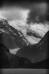 Rough Weather at the end of the World (m.gallenkamp) Tags: blackandwhite bw patagonia argentina tierradelfuego seascapes glaciers beaglechannel argentinien feuerland icescapes patagonien beaglekanal glacieralley