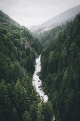 River crossing the valley. (Bokehm0n) Tags: travel summer mist mountain tree nature water rock river landscape outdoors switzerland daylight waterfall flickr folk earth explore valley 500px vsco vscofilm