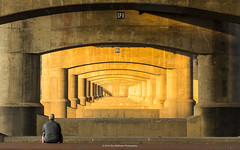 What Comes Next? (carolina_sky) Tags: light architecture sunrise peaceful arches seoul recursion southkorea contemplation hanriver peacebridge hangangbridge tromploiel pentaxk3ii pentax2470mm