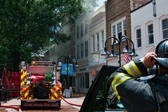 Charlottesville Fire Department (BobMical) Tags: street people fire virginia candid charlottesville firefighter dtm downtownmall