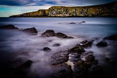 Dunstanburgh Cliffs (Richard_Turnbull) Tags: dunstanburgh cliffs nikon d600 northumberland northeast northumbria sea waves cliff bat rocks coast slow longexposure