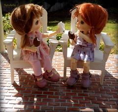 You missed a spot..... (TutuBella) Tags: sunshine sisters dolls sweet bricks icecream fairyland sprout adirondack pergola messyface emmi tinybjd pukifee krataiscrafts