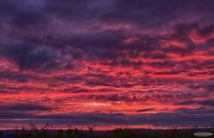 Blazing Sky at sunset (AstroGuiGeek) Tags: light sunset red sky sun clouds soleil lumire ciel nuages crpuscule hdr coucherdesoleil t3i 600d canonphotography hdrphotography eos600d canoneos600d rebelt3i