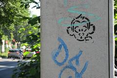 Schlaaffe in der Hauptstrae (unterwegs_in_berlin) Tags: schneberg streetart stencil sprhschablonen schlaaffen berlin
