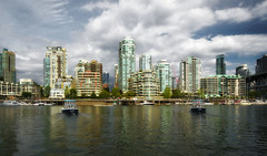 English Bay, False Creek (msuner48) Tags: sky canada water vancouver clouds buildings reflections boats colorful cs4 d600 acr5 nikon1635mmf4 nikcollection