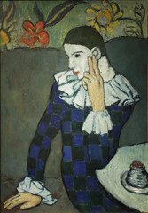 Pablo Picasso - Seated Harlequin 1901 (ahisgett) Tags: new york art museum met metropolitian