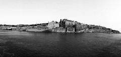 Valletta Malta Port (NadzNidzPhotography) Tags: blackandwhite bw panorama seascape panoramic iphonephoto iphonephotography snapseed iphone5s nadznidzphotography snapseedforios