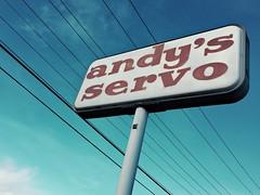 Andy's Servo (ejectbmx) Tags: old sign vintage weathered servo servicestation