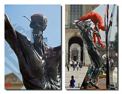 Les muscles  nu des personnages (mamnic47 - Over 6 millions views.Thks!) Tags: paris sculptures lelouvre pontdesarts passerelledesarts laseine danielhourd lapasserelleenchante img0947m