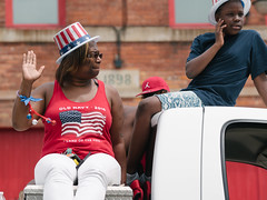 July 4th Parade (jhwill) Tags: vscofilm ypsilanti olympus july4thparade color event streetphotography 75mm penf michigan