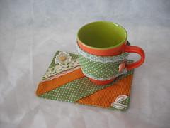 Mug Rug (cuoreditrappo) Tags: patchwork tapete caneca ch mugrug tapetinhos