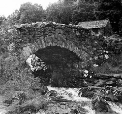 Ashness bridge - Lake district (michaelgmorrow) Tags: bridge blackandwhite architecture 35mm blackwhite lakedistrict cumbria derwentwater zenit filmcamera keswick stonebridge borrowdale 35mmslr zenitem zcg