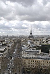 View from Arc de Triomphe (Stationary Nomads) Tags: road paris france tower cars monument architecture design nikon arch traffic capital culture eiffel latoureiffel toureiffel arcdetriomphe neoclassicism d300 champslyses placecharlesdegaulle jeanchalgrin arcdetriomphedeltoile amenaamer