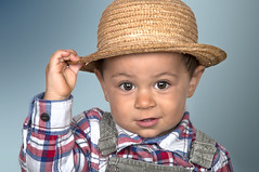 Child with Straw Hat (Francis Jimnez Meca) Tags: boy portrait people cute beautiful smile face hat youth happy person kid eyes holding funny child play little expression teeth happiness son health copyspace care rotten cheerful ok healthcare isolated advertise