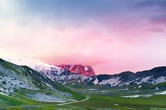 The Hidden Giant (Corsaro078) Tags: mountain clouds sunrise landscape nuvole alba paesaggio gransasso campoimperatore
