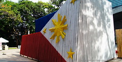 Philippine Flag Bamboo Museum (TheMegacitizen) Tags: museum triangle day market flag bamboo manila makati independence ayala emilio philippine taguig aguinaldo