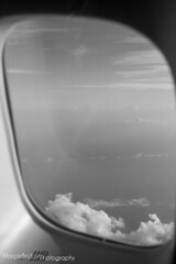 Window To The World (Marple Bridge Photography) Tags: sea sun holiday clouds aircraft virginatlantic