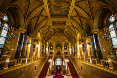 Main Staircase | Hungarian Parliament (dawvon) Tags: world city travel building architecture stairs ed golden hall nikon europe hungary zoom interior gothic budapest photojournalism wideangle unescoworldheritagesite unesco worldheritagesite staircase unitednations nikkor f4 pest vr afs lenses historicalbuilding zoomlens orszghz magyarorszg gothicrevival starway f4g unitednationseducationalscientificandculturalorganization 1635mm  fmount vibrationreduction mainstaircase vr2 hungarianparliamentbuilding vrii liptvros  wideanglezoom centraleasterneurope centralhungary nanocrystalcoat leopoldtown lajoskossuthsquare afsnikkor1635mmf4gedvr 1635mmf4gvr kzpmagyarorszg  kossuthlajostrorkossuthtr
