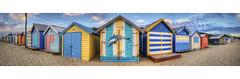 Brighton bathing boxes panorama (J-C-M) Tags: panorama beach port bay nikon brighton australia melbourne victoria bayside boxes phillip d200 bathing stitched
