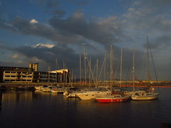 Stormy Skies (fabbird1964) Tags: sky reflection wales clouds boats swanseamarina