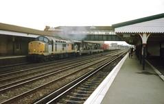 Eastleigh, 26th October 1992 (elkemasa) Tags: 1992 eastleigh class37