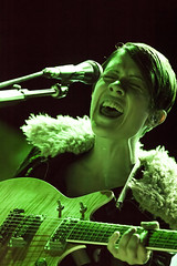 Tegan and Sara (Emily Korn) Tags: red music concert colorado rocks sara live amphitheater morrison tegan