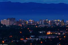 Victoria BC at Dawn (C McCann) Tags: longexposure canada mountains sunrise de dawn long exposure downtown mt bc juan before columbia victoria mount british olympic strait saanich fuca tolmie yyj