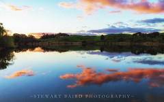Another Day Ends (stewartbaird) Tags: blue red newzealand camp lake nature clouds landscape wellington sxbaird stewartbaird wwwstewartbairdcom