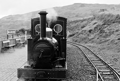 Head of Steam (The_Kevster) Tags: leica sky blackandwhite bw monochrome station train vintage track engine railway rangefinder steam hills rails locomotive mann sealion isleofman steamengine sleepers onchan summicron50mm groudleglen ellanvannin sealionrocks ggr leicam9 groudleglenrailway