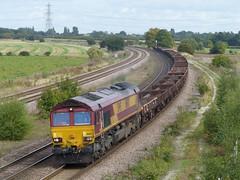 66143 26,09,2013 (Marc60099) Tags: train dock diesel steel empty yorkshire north shed salmon railway loco db september thursday burton tees 26th oca schenker class66 ews aldwark 2013 englishwelshscottish 66143 6j71