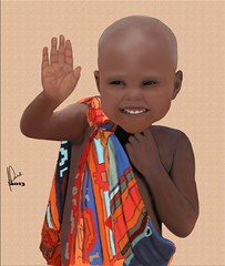 frica (pintura digital) Tags: criana menino pintura photosho